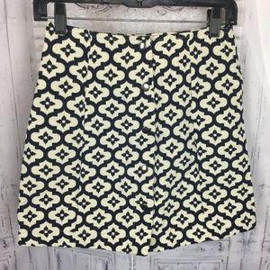 Topshop Aline Mini Skirt Button Down Front 4